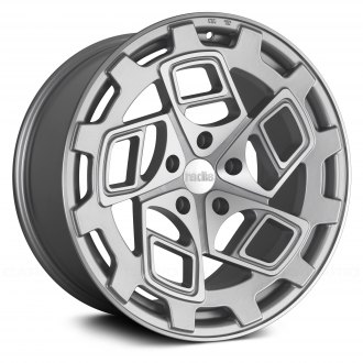 RADI8® - R8CM9 Matte Silver with Machined Face