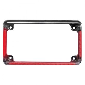 "Radiantz® - Z-Flex Red LED 7.1"" Chrome License Plate Frame"