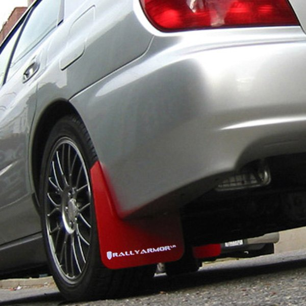 Semi Truck Mud Flaps >> Rally Armor® MF1-UR-RD/WH - UR Series Red Mud Flap Kit with White Rally Armor Logo