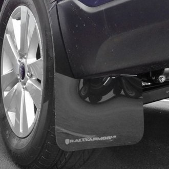 Rally Armor® - UR Series Black Mud Flap Kit with Silver Logo