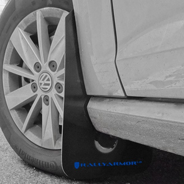 Rally Armor® - UR Series Black Mud Flap Kit with Blue Rally Armor Logo