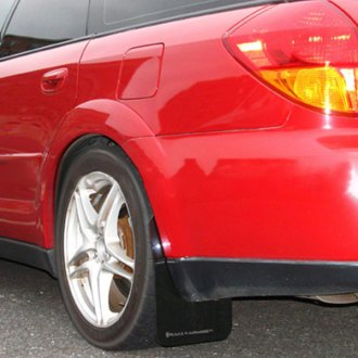 Rally Armor® - UR Series Black Mud Flap Kit with Gray Logo