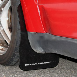Rally Armor® - UR Series Black Mud Flap Kit with White Logo