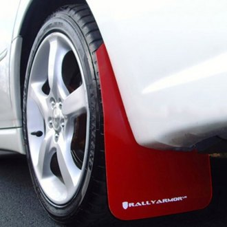 Rally Armor® - UR Series Red Mud Flap Kit with White Logo