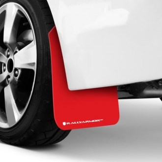 Rally Armor® - UR Series Red Mud Flaps with White Logo