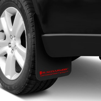 Rally Armor® - MSpec Series Black Mud Flaps with Red Logo