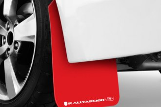 Rally Armor® - UR Plus Series Red Mud Flaps with White Logo