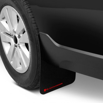 Rally Armor® - Basic Series Black Mud Flaps with Red Logo