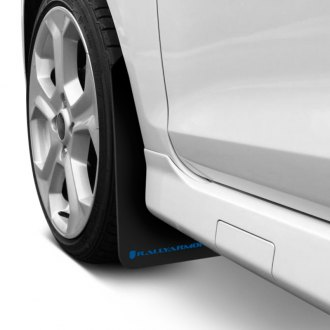 Rally Armor MF1-BL - Classic Series Black Mud Flaps with Blue Logo
