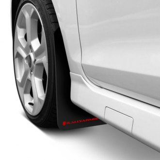 Rally Armor MF1-RD - Classic Series Black Mud Flaps with Red Logo