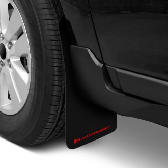 Rally Armor MF1-UR-BLK/RD - UR Series Black Mud Flaps with Red Logo