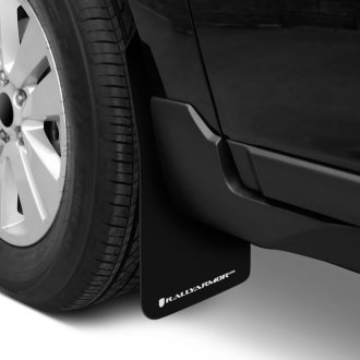 Rally Armor® - UR Series Black Mud Flaps with White Logo
