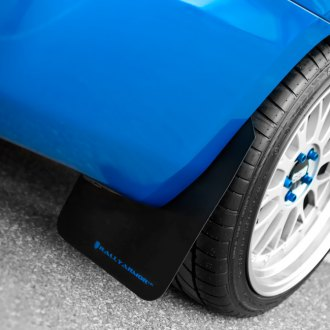 Rally Armor® - Black Mud Flaps With Blue Logo Rear