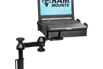 RAM® - Flat Surface Vertical Drill-Down Vehicle Laptop Mount Stand