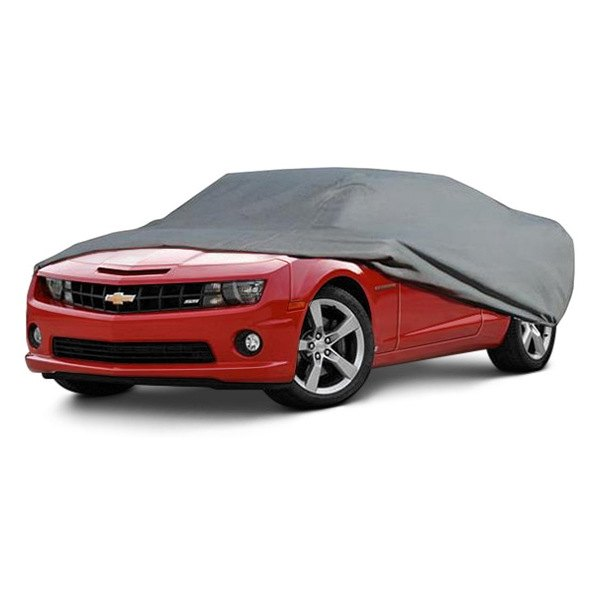 Image may not reflect your exact vehicle! Rampage® - Gray Custom Fit 4-Layer Breathable Car Cover