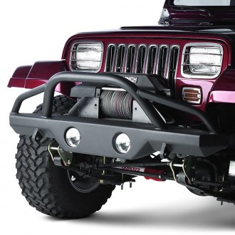 Rampage® - Recovery Full Width Black Front Winch HD Bumper