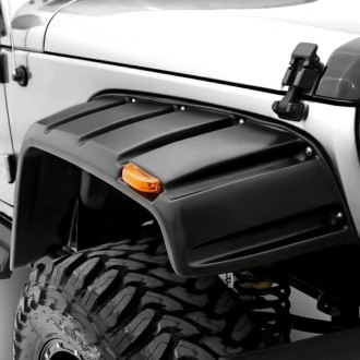 Rampage® - Rivet Style Front and Rear Fender Flares with Stainless Bolts