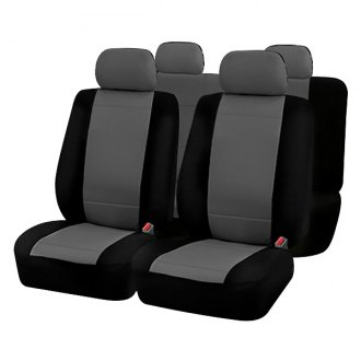Rampage® - Custom Fit Polycanvas Black/Gray Seat Covers