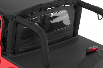Rampage® - Black Denim Zipper Tonneau Cover with Factory Soft Top