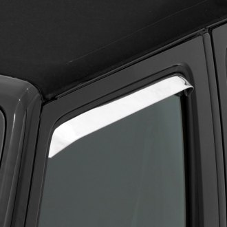 Rampage® - In-Channel Ventshade™ Stainless Steel Front Window Deflectors
