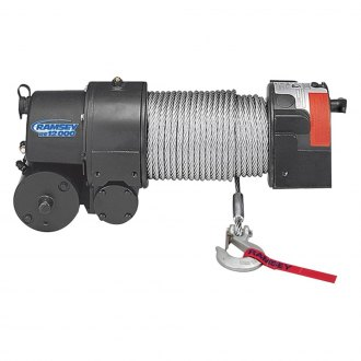 Ramsey Winch® - 12.000 R Roller Fairlead Electric Worm Gear
