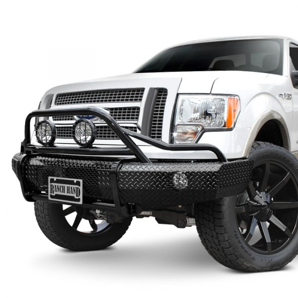 Ranch Hand® - Summit BullNose Series Full Width Front HD Black Bumper