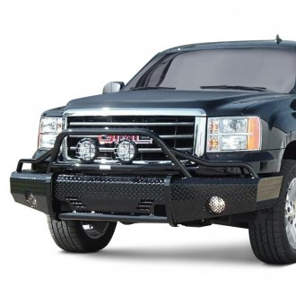Ranch Hand® - Summit BullNose Series Full Width Black Front HD Bumper with Pre-Runner Guard