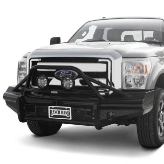 Ranch Hand® - Legend BullNose Series Full Width Black Front HD Bumper with Pre-Runner Guard