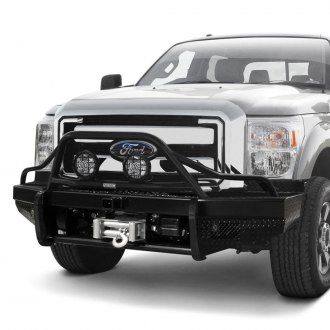Ranch Hand® - Sport BullNose Series Full Width Durable Black Front Winch HD Bumper with Pre-Runner Guard