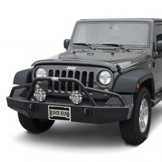 Ranch Hand® - Sport BullNose Series Full Width Black Front HD Bumper with Pre-Runner Guard