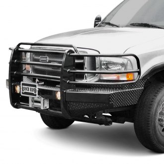 Ranch Hand® - Sport Series Full Width Black Front Winch HD Bumper with Full Grille Guard