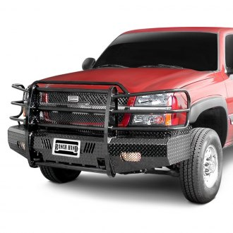 Ranch Hand® - Summit Series Full Width Tough Black Front HD Bumper with Full Grille Guard