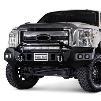 Ranch Hand® - Horizon BullNose Series Full Width Black Front HD Bumper with Pre-Runner Guard