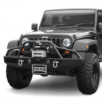 Ranch Hand® - Sport BullNose Series Full Width Black Front HD Bumper