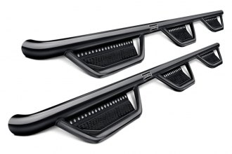 "Ranch Hand® - 3"" Textured Black Round Nerf Step Bars"