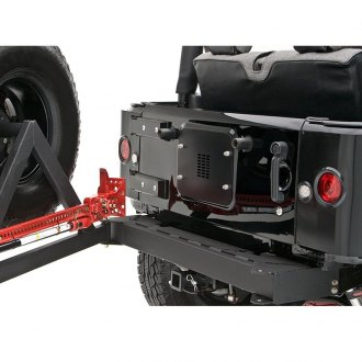 Rancho® - Compact Design Full Width Rear HD Bumper with Tire Carrier