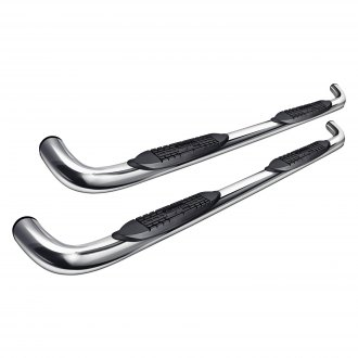 "Raptor Series® - 3"" Cab Length Polished Round Nerf Bars"