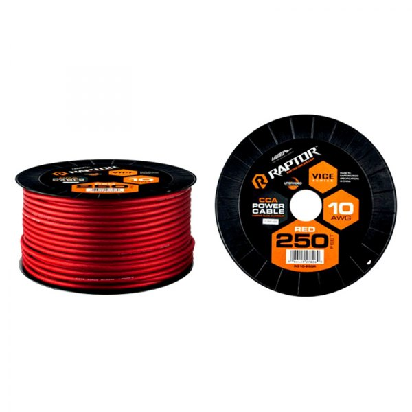 Raptor R3r10 250 Vice Series 250 10 Gauge Red Power Cable