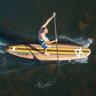 RAVE Sports® - Bamboo Soft Top Stand Up Paddle Board