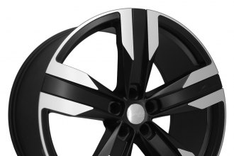 "RAW® - ZETA Satin Black with Machined Face (22"" x 8.5"", +25 Offset, 5x120.65 Bolt Pattern, 66.9mm Hub)"