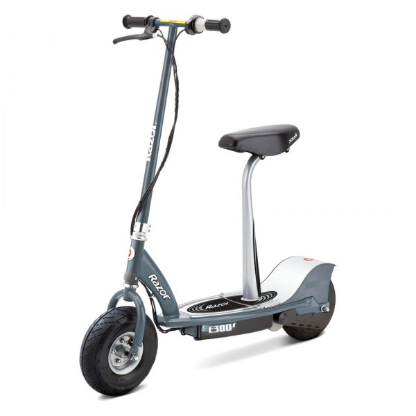 Razor 13116214 e300s gray electric scooter with for Motorized razor scooter for adults