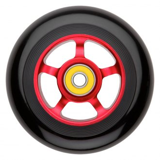 RAZOR® - 100mm Spoke Alloy Wheel with Pro Bearing - Black with Red Core