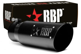 "RBP® 35454-7 - SS Heat Treated Black Coating Tip with Logo (3.5"" x 4.5"" x 12"", Standard Side)"