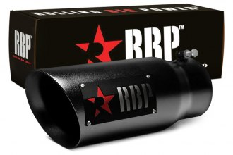 "RBP® 45124-7RD - SS Heat Treated Black Coating Tip with Logo and Red Star (4"" x 5"" x 12"", Driver Side)"