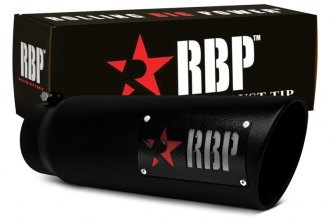 "RBP® 56004-7R - SS Heat Treated Black Coating Tip with Logo and Red Star (5"" x 6"" x 18"", Standard Side)"