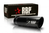 Image may not reflect your exact vehicle! RBP® - SS Heat Treated Black Coating Turbo Tip with Logo