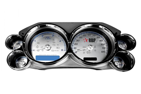 Image may not reflect your exact vehicle! RBP® - Gauge Face with Needle Kit and Billet Trim