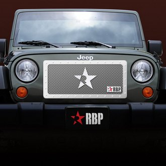 RBP® - 1-Pc RX Series Chrome Mesh Grille with Studded Frame