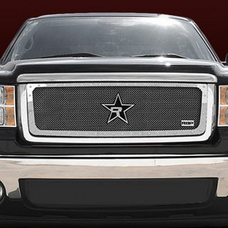 "RBP® - 1-Pc RX-5 ""HALO"" Series Chrome Double Woven Mesh Main Grille with Studded Frame"