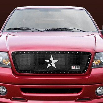 RBP® - 1-Pc RX Series Black Mesh Grille with Studded Frame